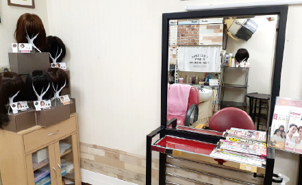浜松医科大学医学部付属病院ヘアサロン 店内イメージ