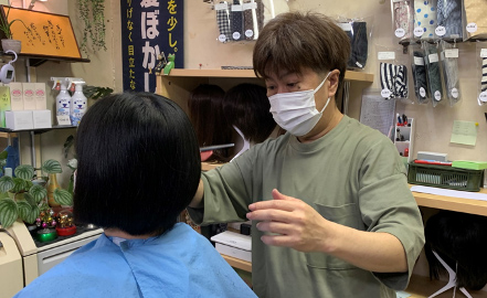 山口県  徳山中央病院  理容中央 店内イメージ